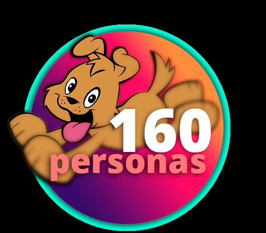 160 personas