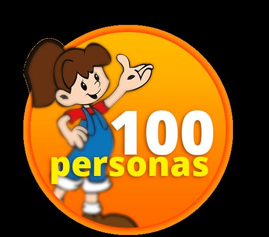 100 personas